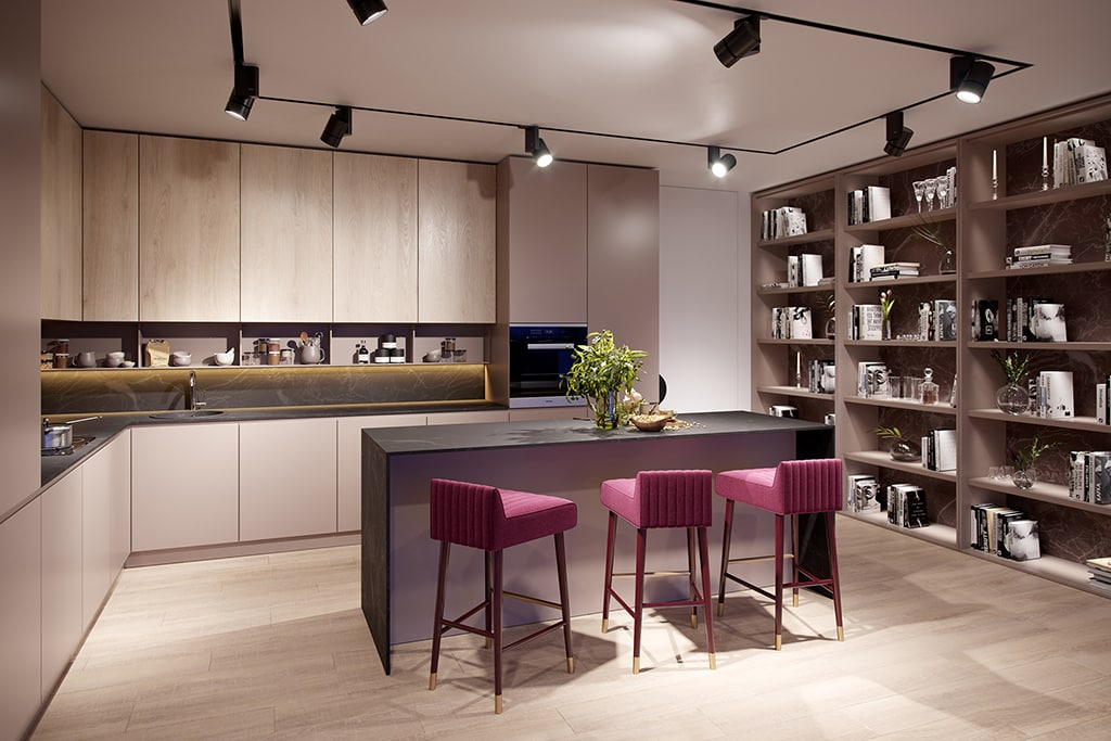 4 Bedroom - Kitchen design, contemporary finishes from a harmonious palette of colours